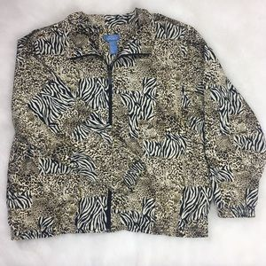 Vintage Ex Large Windbreaker style Animal Print
